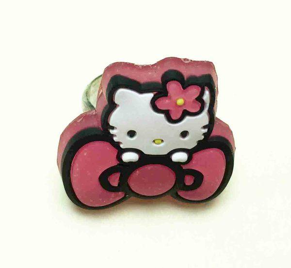 【震撼精品百貨】Hello Kitty 凱蒂貓~軟戒指-粉蝶結
