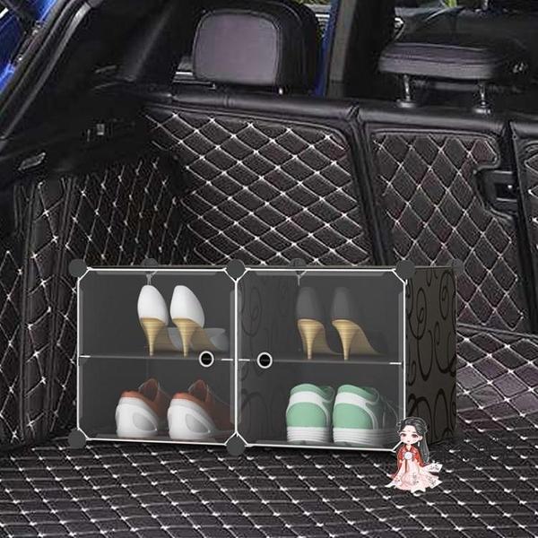 透明鞋盒 車載鞋盒透明車用車內汽車后備箱放鞋子收納神器鞋架床底儲物鞋櫃T