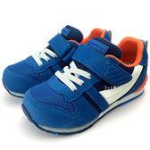 《7+1童鞋》日本月星 MOONSTAR 魔鬼氈  透氣  機能  運動鞋  C438  藍色