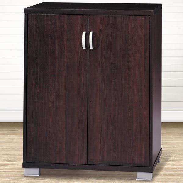 鞋櫃 (雙門胡桃木色) / 收納櫃 & DIY組合傢俱