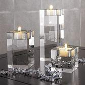 燭臺 水晶蠟燭擺件婚慶燭臺浪漫軟裝家居水晶燭臺 BF10680『男神港灣』