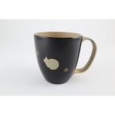 【日本製】【越前漆器】貓咪 馬克杯 溜(黑) SD-2331 - 日本製