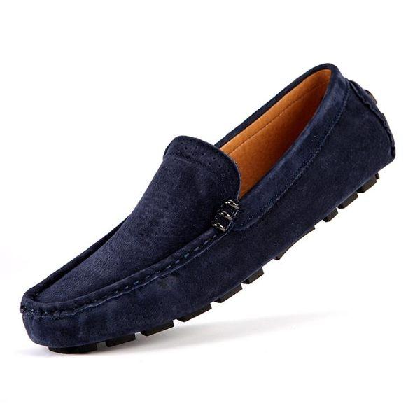 真皮鞋真皮豆豆鞋 男軟底休閒皮鞋【非凡上品】nx1290