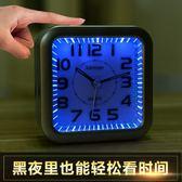 音樂鬧鐘簡約鬧鐘靜音床頭創意鐘表個性學生鬧鐘小鬧鐘迷你台鐘表 月光節85折