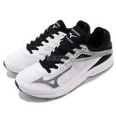 Mizuno 慢跑鞋 Sonic Rush 白 黑 輕量透氣 舒適緩震 美津濃 運動鞋 男鞋【PUMP306】 J1GA1883-09