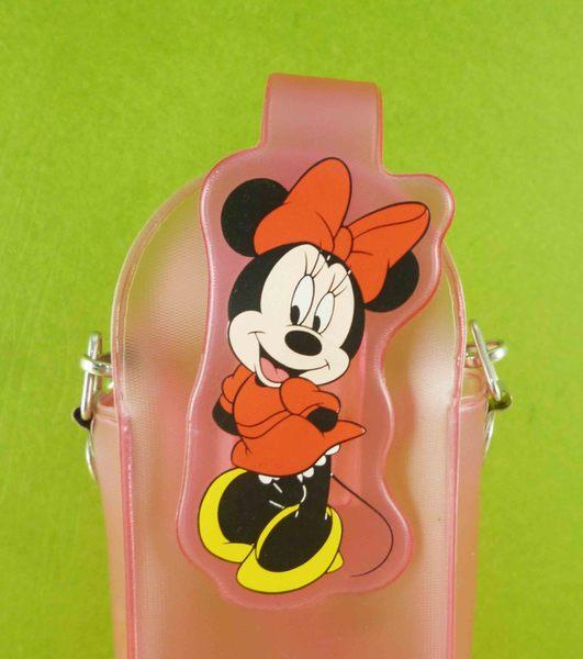 【震撼精品百貨】Micky Mouse_米奇/米妮 ~手機袋-透明粉米妮