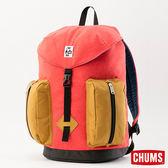 CHUMS 日本 SxN 口袋後背包 紅/駝黃色 CH602401R070
