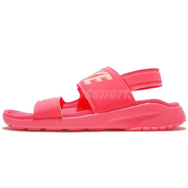 Nike 涼鞋 Wmns Tanjun Sandal 粉紅 魔鬼氈設計 大LOGO 涼拖鞋 女鞋【PUMP306】 882694-600