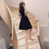 禮服 黑色很仙的晚禮服女宴會性感v領法式小禮服名媛氣質收腰顯瘦短款 雙12