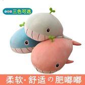 毛絨玩具女生抱枕公仔可愛懶人抱著睡覺的大布娃娃玩偶鯨魚萌海豚YYP  ciyo黛雅