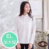 【岱妮蠶絲】透氣合身長袖女蠶絲襯衫(白) EL加大