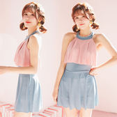 泳衣 連體泳衣女韓版超仙可愛少女日繫顯瘦遮肚學生泳裝ins風 歐歐流行館