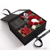 玫瑰花模擬花束聖誕情人節香皂花禮盒生日浪漫創意畢業禮物 樂活生活館