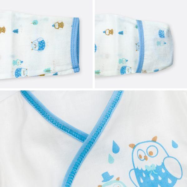 (2件組)台灣製 超棉柔紗布衣 高密度120支和尚服 護手款紗布衣 新生兒服  寶寶內衣0-6M【GA0027】