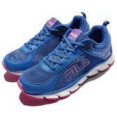 【六折特賣】Fila 慢跑鞋 J972Q 藍 粉紅 白底 輕量透氣 運動鞋 女鞋 【PUMP306】 5J972Q335