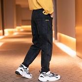 中大童牛仔褲春秋冬季款加絨男童褲子直筒長2020新孩兒童寬鬆洋氣  【端午節特惠】