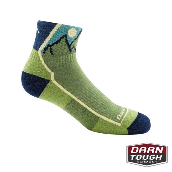 【美國DARN TOUGH】孩羊毛襪HIKER JUNIOR 1/4 CUSHION健行襪(2入顏色隨機)