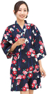 Nishiki【日本代購】和式清涼居家服 睡衣 上下套裝 棉100%-椿にうさぎ