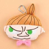 尼德斯Nydus 日本正版 Moomin 姆明 嚕嚕米 阿美 小美 小不點 吊飾 票卡夾 零錢包 約14x15cm