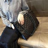 包包女潮簡約大氣手提包百搭斜挎包大容量菱格?條包『小宅妮時尚』