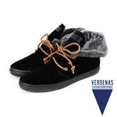 【VERBENAS】MARBELLA西班牙時尚造型毛飾短靴  黑色( 034-BL)