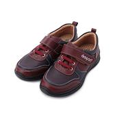 地之柏 DISPON 牛皮配色休閒鞋 暗紅 女鞋