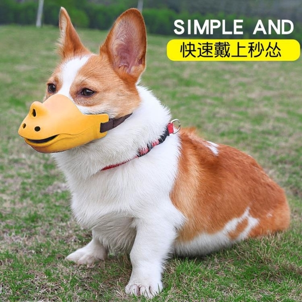 狗狗嘴罩嘴套小型大型犬止吠器防咬叫亂吃柯基狗套嘴巴套寵物口罩 黛尼時尚精品