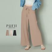 限量現貨◆PUFII-寬褲 顯瘦坑條花苞長寬褲- 0512 現+預 夏【CP18536】