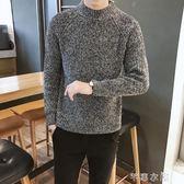秋冬季毛衣男韓版潮流寬鬆學生半高領針織衫男士青少年打底衫線衣 千惠衣屋