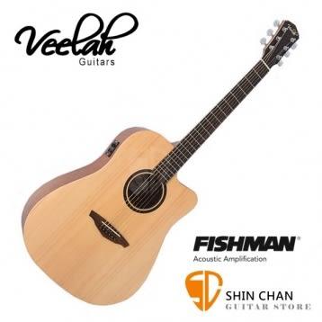 Veelah吉他 V1-DCE桶身/面單板/切角/Fishman拾音器 贈原廠袋/V1專用(全配件)Veelah電木吉他/台灣公司貨