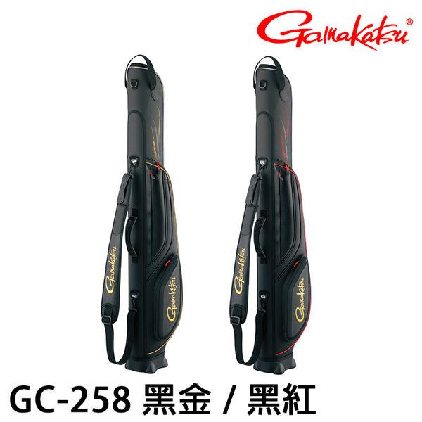 漁拓釣具 GAMAKATSU GC-258 130cm 黑金 / 黑紅 (磯釣竿袋)