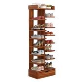 鞋架多層簡易家用經濟型省空間實木色鞋柜門口放小鞋架子宿舍收納