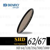 百諾 BENRO SHD ND減光鏡 62mm / 67mm ND64 / ND128 / ND256 / ND500 / ND1000 奈米鍍膜 防水/抗油汙/防刮 銅框