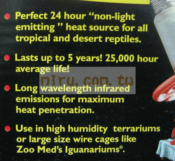 【西高地水族坊】ZOO MED(ZOOMED) 陶瓷放熱器(60W)