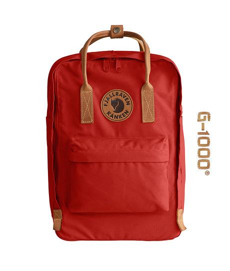 【FJALL RAVEN瑞典小狐貍包】KÅNKEN NO.2 LAPTOP 15吋電腦後背包(深紅)