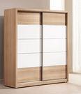 【森可家居】金詩涵5.2尺推門衣櫃 7ZX137-2 拉門 衣櫥 木紋質感 無印風 北歐風 衣物收納