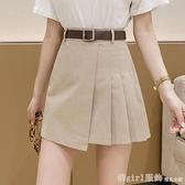 短裙 短裙女夏季2021新款時尚不規則百褶半身裙高腰顯瘦百搭a字包臀裙 秋季新品