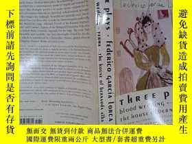 二手書博民逛書店Three罕見Plays: Blood Wedding; Yer