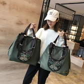 健身單肩包旅行包女韓版手提袋大容量輕便運動【繁星小鎮】