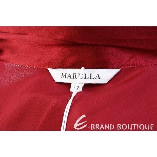 MARELLA 紅色緞面領結長袖襯衫 1240284-54