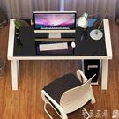凡積簡約現代 鋼化玻璃電腦桌臺式家用辦公桌 簡易學習書桌寫字臺 【低價爆款】LX