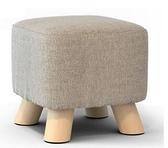 換鞋凳 實木換鞋凳時尚穿鞋凳創意方凳布藝家用小凳子沙發凳茶幾板凳矮凳【快速出貨八折鉅惠】