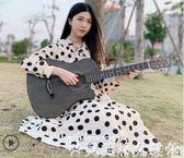 吉他民謠木吉他初學者38寸40寸41寸入門學生自學網紅旅行男練習學生用 貝芙莉LX