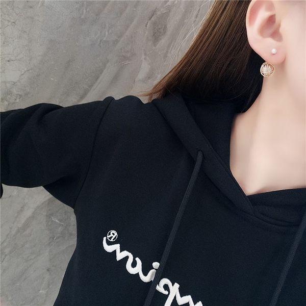 耳環 個性 鏤空 金絲 纏繞 珍珠 設計 百搭 耳釘 耳環【DD1810196】 icoca  01/24