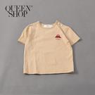 Queen Shop【01038239】童裝 親子系列 富士山印花T恤 S/M/L*現+預*