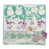 日本龍貓 TOTORO紫色葡萄園純綿小方巾989257