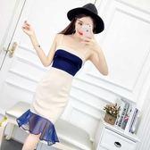 夏季新款女裝韓版吊帶顯瘦洋裝夜場夜店性感荷葉邊包臀裙子   莉卡嚴選