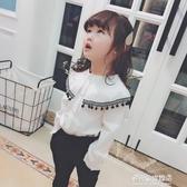 女童長袖襯衫-女童春季氣質襯衫 寶寶上衣花邊時尚可愛長袖中小童 多麗絲