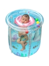 嬰兒游泳池家用透明充氣寶寶游泳桶加厚支架...