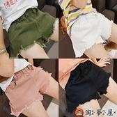 女童牛仔短褲夏破洞中大童兒童韓版寬鬆休閒褲子【淘夢屋】